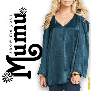 SMYM Shoulder Boo Tunic Boho Indie Cold Shoulder